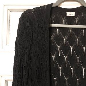 Black Wilfred Lace Cardigan